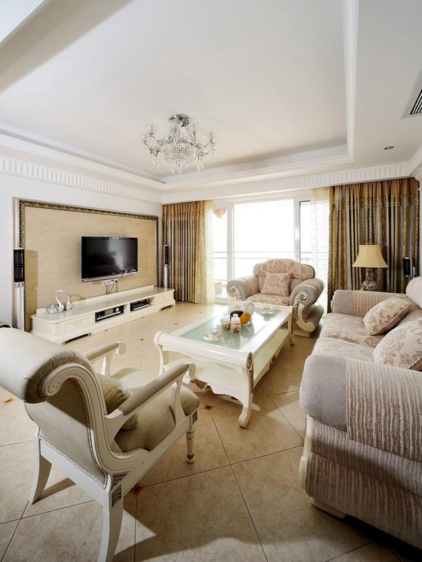 带入清新淡雅的简欧美式乡村混妆,重新詮译机能美宅的进化定义。顺应樑柱结构的格局分野,呈现段落明确的机能范围。透过穠纤合度的用色笔触,轻柔叙写无拘生活的閒逸风情。  98m²两居欧式风格家庭客厅卧室窗帘装修效果图-欧式风格图片  98m²两居欧式风格家庭客厅卧室窗帘装修效果图-欧式风格图片  98m²两居欧式风格家庭客厅卧室窗帘装修效果图-欧式风格图片  98m²两居欧式风格家庭客厅卧室窗帘装修效果图-欧式风格图片  98m²两居欧式风格家庭客厅卧室窗帘装修