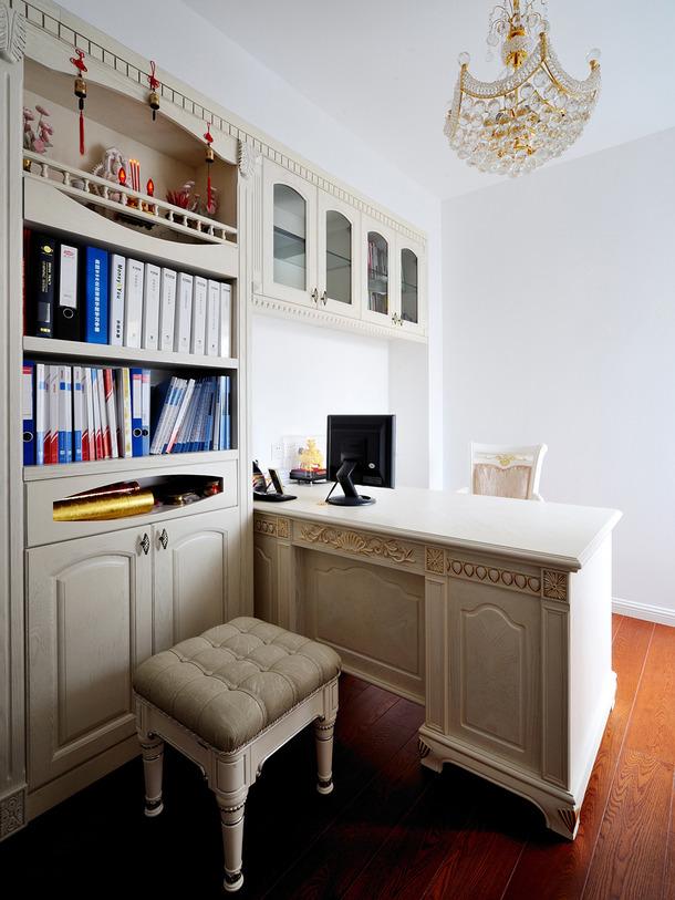 98m2两居简欧美式乡村风格家庭客厅卧室窗帘装修效果