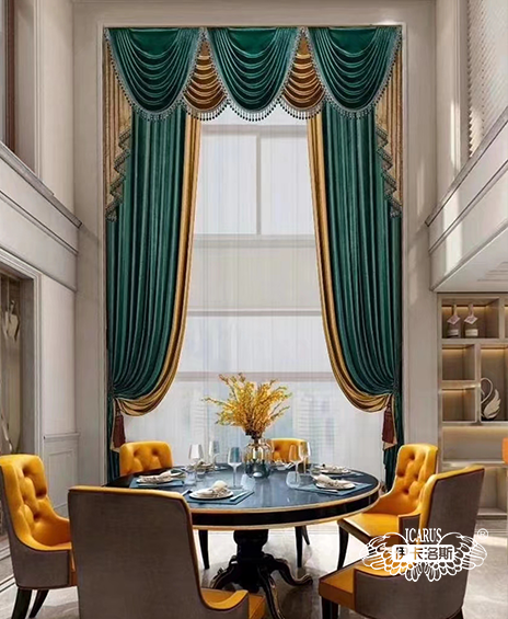 别墅一楼用什么窗帘?别墅挑高客厅窗帘怎么做?