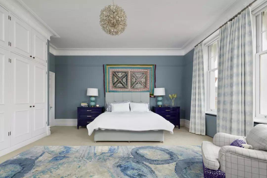 蓝色调点缀居室,营造温馨静谧居室