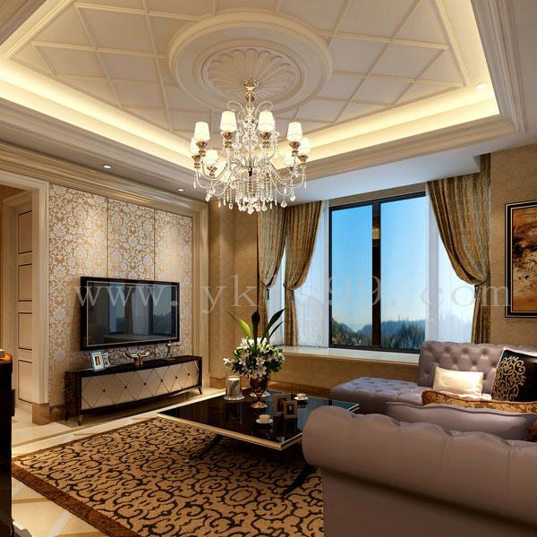 新古典风格客厅提花窗帘