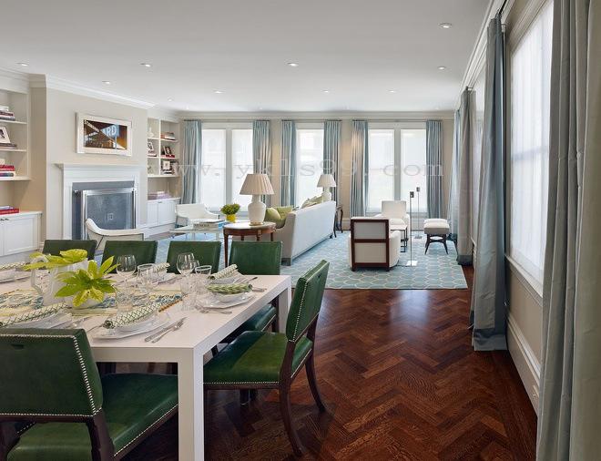 现代风格餐厅棉麻窗帘