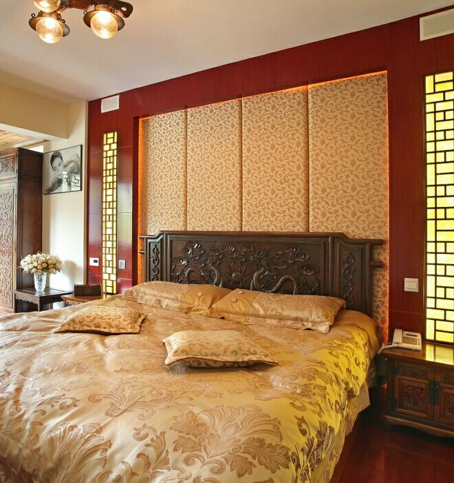 床背景软包(中式)