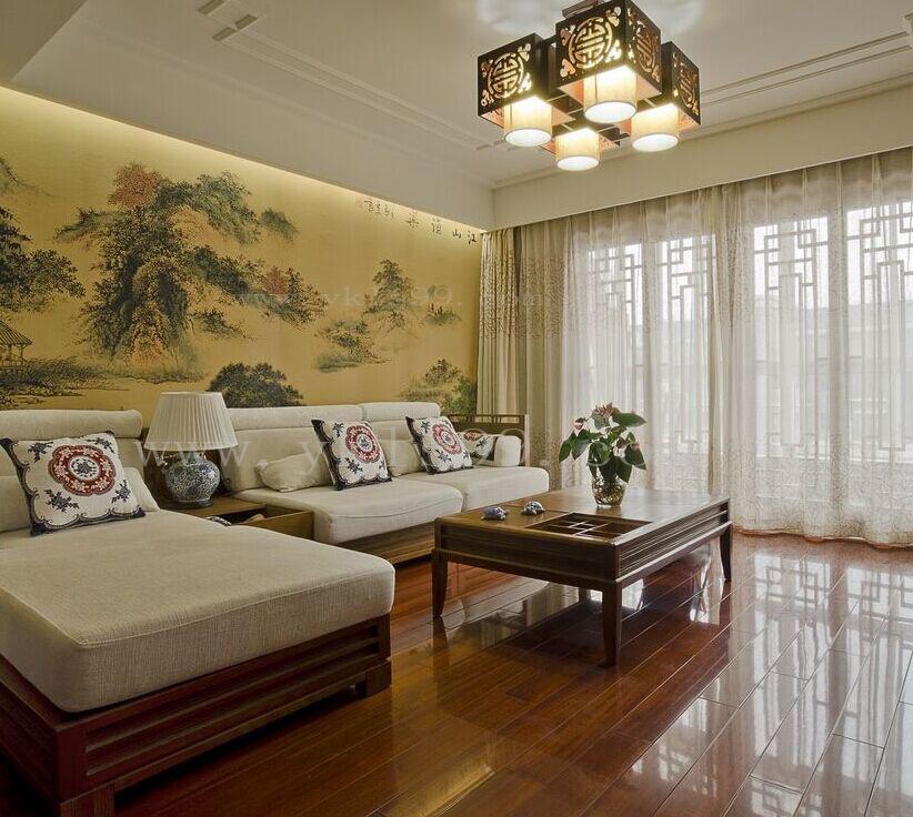 中式风格客厅窗帘
