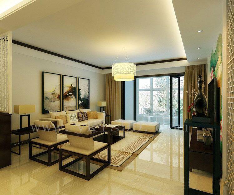 中式风格客厅高精密窗帘