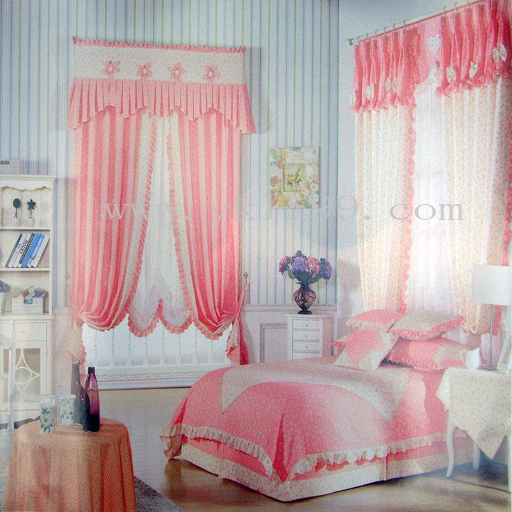 田园风格卧室提花窗帘