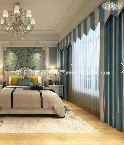轻奢时尚卧室绒布窗帘