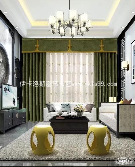 中式风格窗帘  清新瑰丽