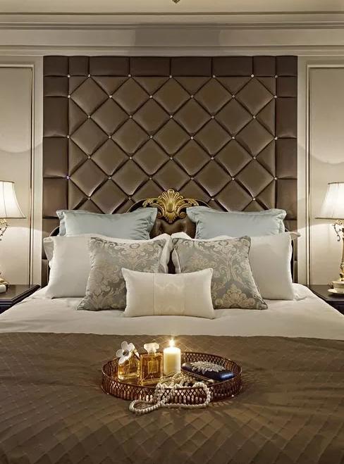 卧室高端软包背景