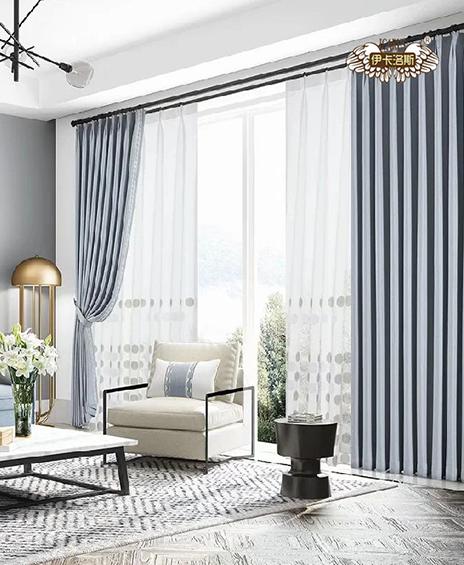 窗帘定做布艺现代简约北欧加厚遮光窗帘
