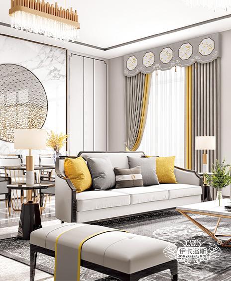 新中式风格客厅窗帘