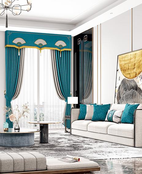 新中式窗帘1