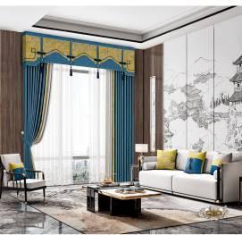新中式窗帘  定制窗帘