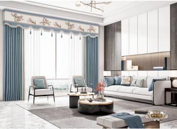新中式窗帘   定做窗帘