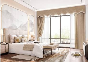 新中式风格  窗帘设计