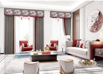 新中式窗帘  窗帘设计