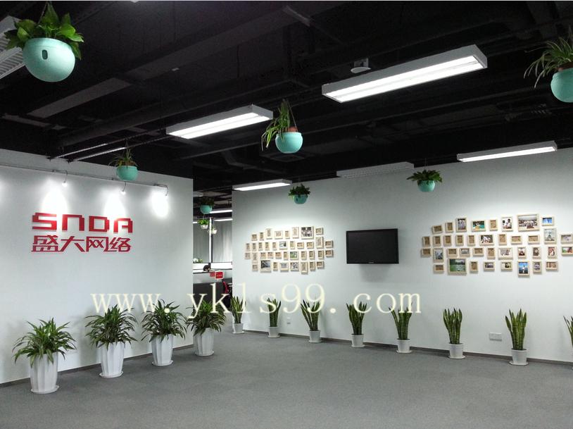 上海盛大网络窗帘工程案例
