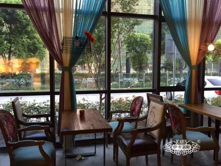 上海E通世界56咖啡馆窗帘案例