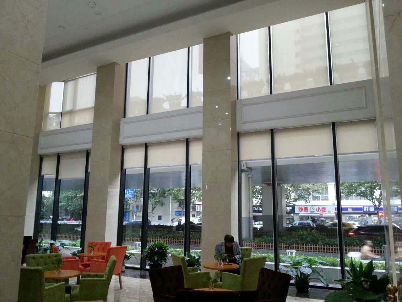 上海文联办公卷帘工程案例